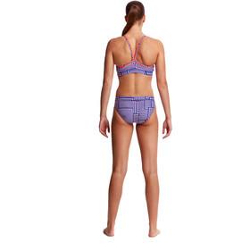 Funkita Sports Top Bikini Damer blå/hvid